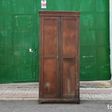 Antigüedades: ARMARIO ANTIGUO DE DESPACHO. TAQUILLA ANTIGUA DE FÁBRICA 1920. MUEBLE ESTILO INDUSTRIAL.. Lote 155840310