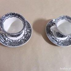 Antigüedades - Juego de 2 platos y tazas,pickman cartuja sevilla - 155842170