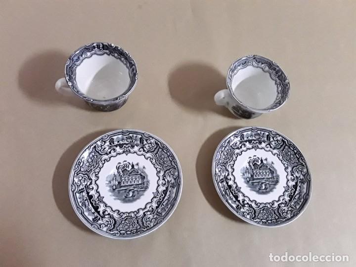 Antigüedades: Juego de 2 platos y tazas,pickman cartuja sevilla - Foto 2 - 155842170