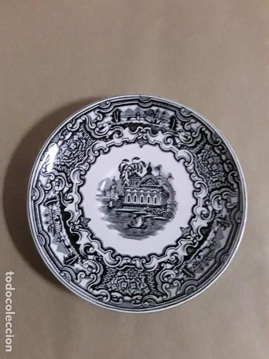 Antigüedades: Juego de 2 platos y tazas,pickman cartuja sevilla - Foto 4 - 155842170