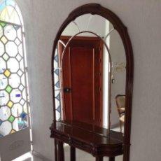 Antigüedades: ESPEJO CONSOLA RECIBIDOR (RECOGIDA EN HUELVA). Lote 155865662