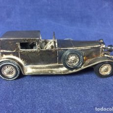 Antigüedades: COCHE PLATA 1930 MODEL J DUESENBERG TOWN CAR CONTRASTES 3,5X11,5X4CMS. Lote 155866326