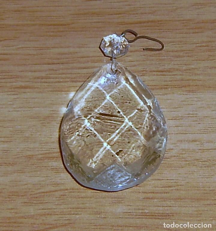 Antigüedades: Lagrima de cristal para lampara 7.5 x 5 cm mas la pequeña.L - 12 - Foto 2 - 155869838