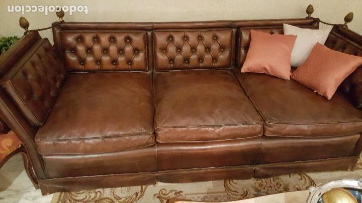 Antigüedades: sofá de cuero - Foto 2 - 122228791