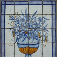 Antigüedades: MURAL EN TACOS MANUALES FLORES. Lote 113854403