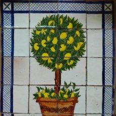 Antigüedades: AZULEJOS MANUALES LIMONERO. Lote 155892942