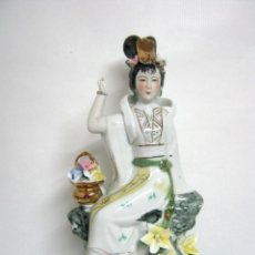 Antigüedades: BELLA PORCELANA CHINA GEISHA 29 CM. Lote 155894734
