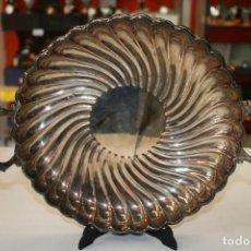 Antigüedades: BANDEJA EN PLATA MACIZA DE LEY 925 MILÉSIMAS 367GRS. Lote 155895394