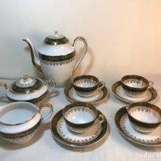 Antigüedades: JUEGO CAFÉ PORCELANA 4 SERVICIOS-DINAMARCA-COPENHAGEN. Lote 155896606
