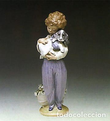 """REF: 01007609 """"PERRITO CONVALECIENTE"""" LLADRÓ (SOCIEDAD DE COLECCIONISTAS LLADRÓ AÑO 1989) (Antigüedades - Porcelanas y Cerámicas - Lladró)"""