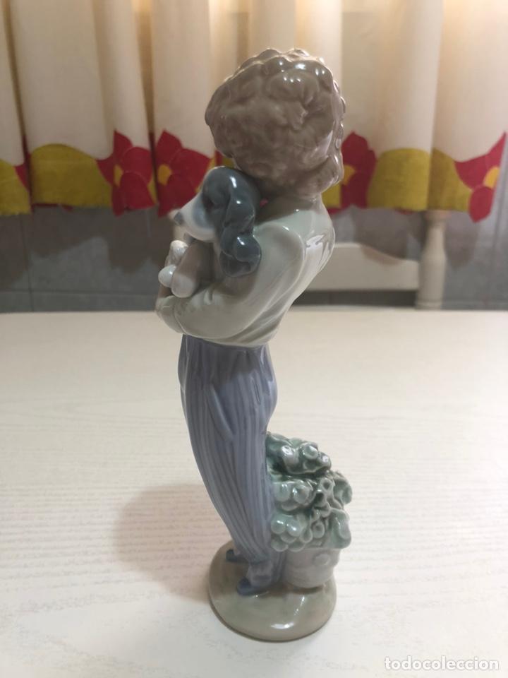 """Antigüedades: REF: 01007609 """"PERRITO CONVALECIENTE"""" LLADRÓ (Sociedad de Coleccionistas Lladró año 1989) - Foto 4 - 155908245"""