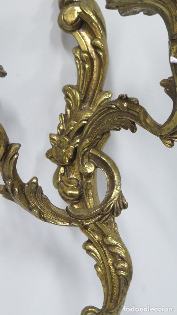Antigüedades: BONITA PAREJA DE APLIQUES LUIS XV - Foto 2 - 155921886