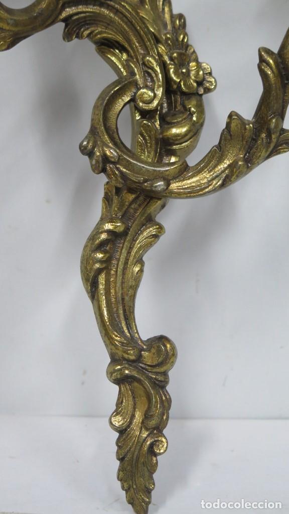 Antigüedades: BONITA PAREJA DE APLIQUES LUIS XV - Foto 3 - 155921886