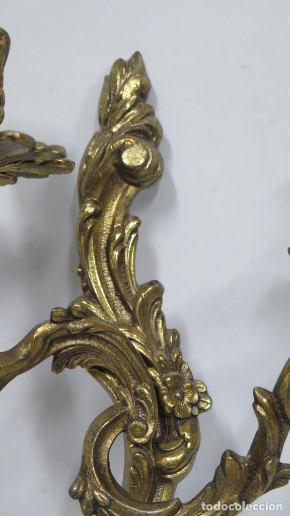 Antigüedades: BONITA PAREJA DE APLIQUES LUIS XV - Foto 4 - 155921886
