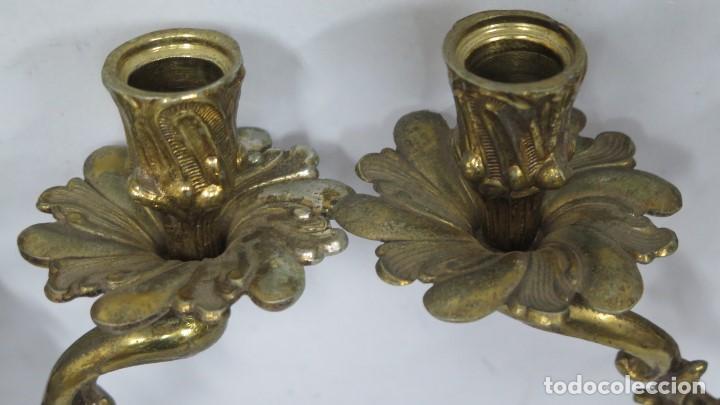Antigüedades: BONITA PAREJA DE APLIQUES LUIS XV - Foto 6 - 155921886