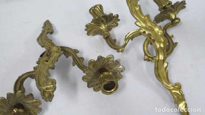 Antigüedades: BONITA PAREJA DE APLIQUES LUIS XV - Foto 7 - 155921886