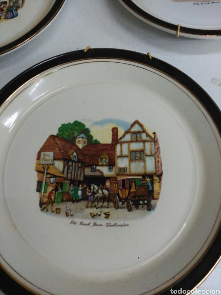 Antigüedades: Platos decorativos porcelana inglesa - Foto 2 - 155923648