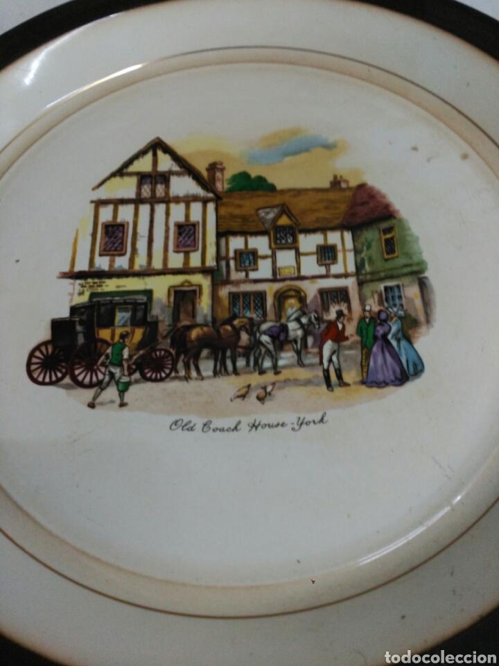 Antigüedades: Platos decorativos porcelana inglesa - Foto 3 - 155923648