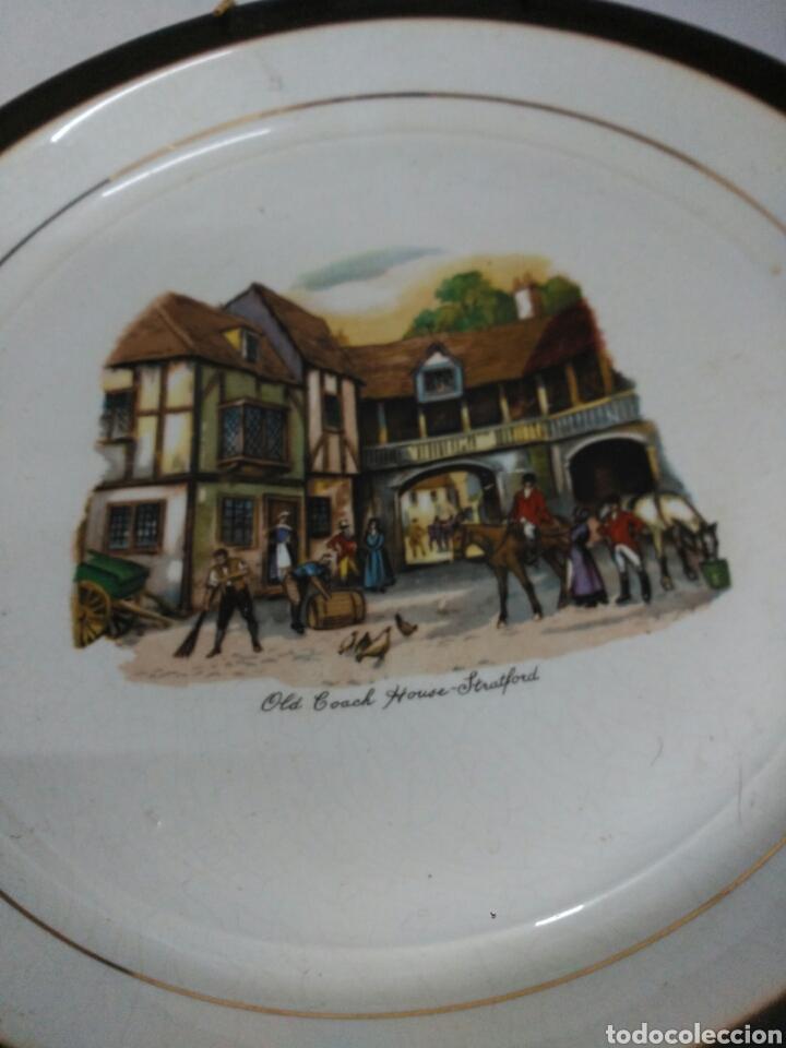 Antigüedades: Platos decorativos porcelana inglesa - Foto 4 - 155923648