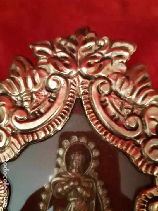 ANTIGUO RELICARIO DE ORFEBRERIA (Antigüedades - Religiosas - Orfebrería Antigua)