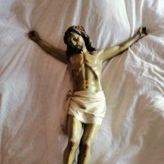 Antigüedades: IMPRESIONANTE CRISTO ESCUELA OLOT. Lote 155945664