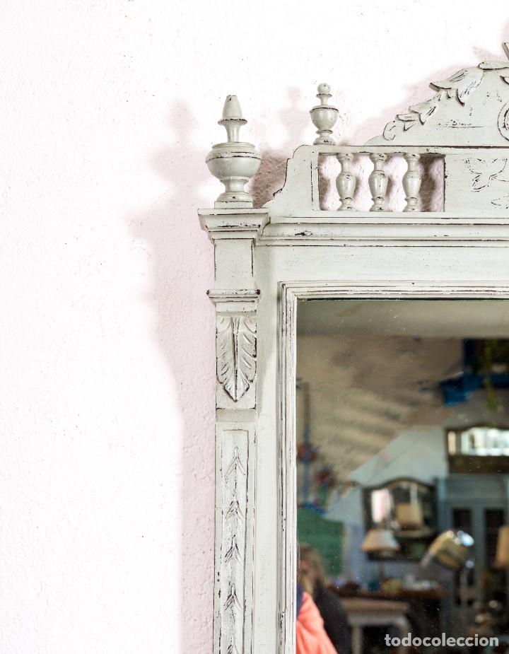 Antigüedades: Espejo Antiguo Restaurado Gael - Foto 2 - 155953306