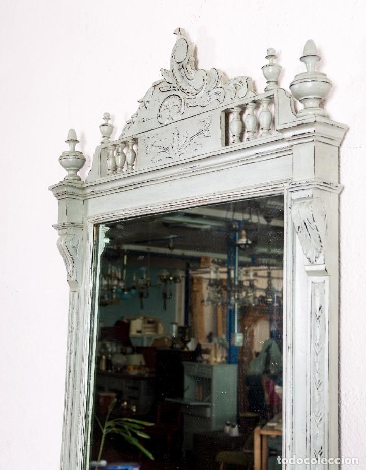 Antigüedades: Espejo Antiguo Restaurado Gael - Foto 3 - 155953306