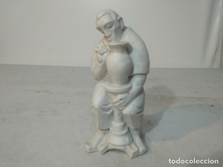 Antigüedades: Figura porcelana Algora, Hombre pintando cerámica - Foto 2 - 148490994