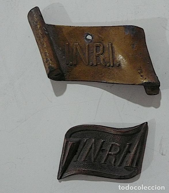 Antigüedades: 4 PLACAS INRI. - Foto 2 - 155962090