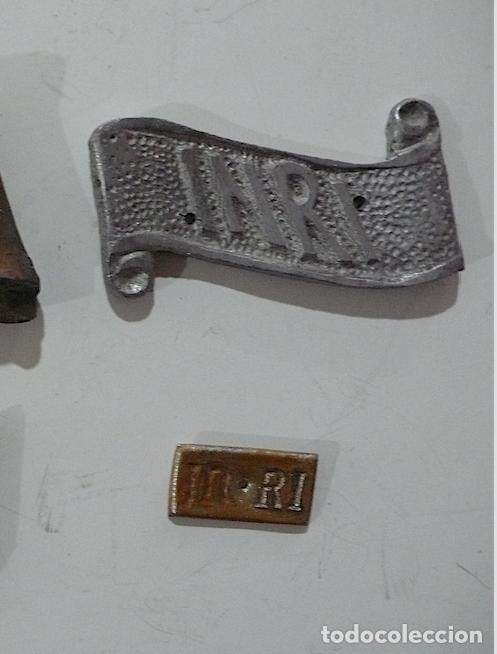 Antigüedades: 4 PLACAS INRI. - Foto 3 - 155962090