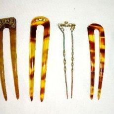 Antigüedades: 7 HORQUILLAS DE PELO ANTIGUAS, DE PRINCIPIOS DEL SIGLOXX. Lote 155963866