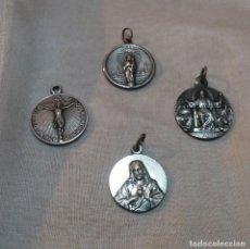 Antigüedades: LOTE DE 4 MEDALLAS RELIGIOSAS. Lote 155995442