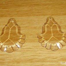 Antigüedades: 2 LAGRIMAS DE CRISTAL PARA LAMPARA 10 X 6.5 CM.. Lote 156011050