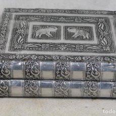 Antigüedades: CAJA JOYERO FORRADO CON PLATA NEPALI . Lote 156020622