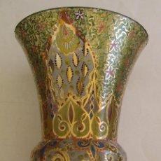 Antigüedades: ANTIGUO JARRON DE CRISTAL MALLORQUIN TIPO CIRERA MALLORCA. Lote 156026022