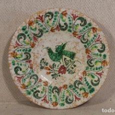 Antigüedades: PLATO CERAMICA PUENTE FIRMADO PEDRAZA . Lote 156034306