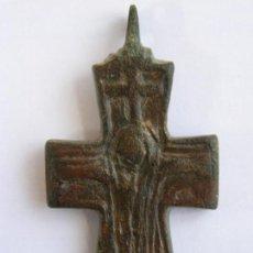 Antigüedades: RARA CRUZ BIZANTINA. ENCOLPION. ORIGINAL. CIRCA SIGLOS VIII/XI. Lote 156039194