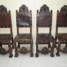 Antigüedades: SILLAS ANTIGUAS ESTILO RENACIMIENTO ESPAÑOL. Lote 156173102