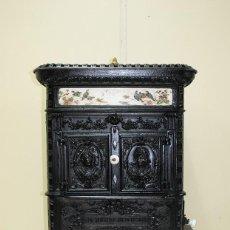 Antigüedades: ESTUFA ANTIGUA HORNO DE HIERRO FUNDIDO - SIGLO XIX. Lote 156176978