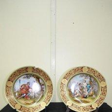 Antigüedades: PAREJA DE PLATOS ANTIGUOS GRIEGOS. Lote 156177982