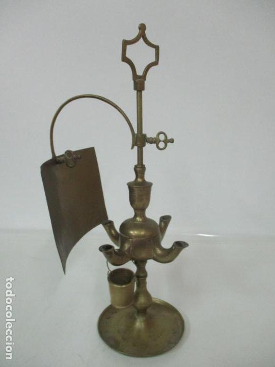 lámpara de aceitecandivelón Vendido Antigua en bronc XukZOiTP
