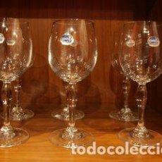 Antigüedades: COPAS DE AGUA. CRISTAL DE BOHEMIA. JUEGO DE MEDIA DOCENA.. Lote 156269834