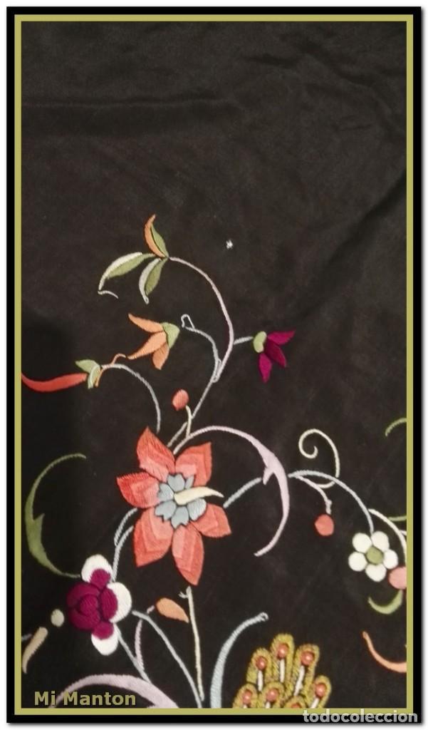 Antigüedades: manton ala de manila mosca ísabelino - Foto 2 - 156406486
