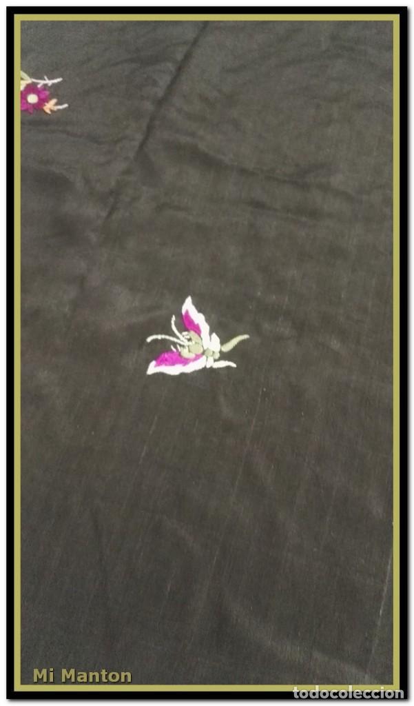 Antigüedades: manton ala de manila mosca ísabelino - Foto 3 - 156406486