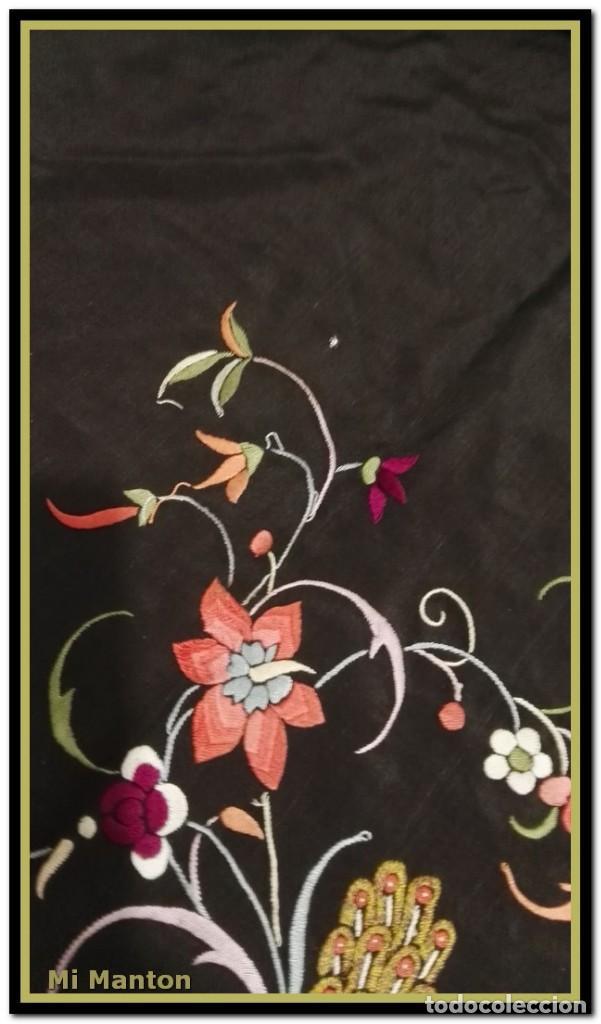 Antigüedades: manton ala de manila mosca ísabelino - Foto 4 - 156406486
