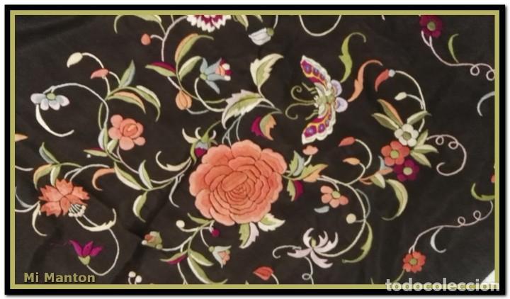 Antigüedades: manton ala de manila mosca ísabelino - Foto 5 - 156406486