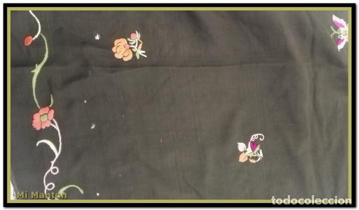 Antigüedades: manton ala de manila mosca ísabelino - Foto 6 - 156406486