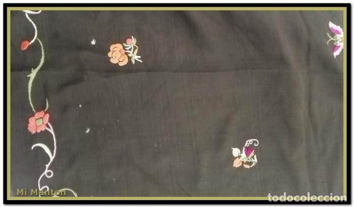 Antigüedades: manton ala de manila mosca ísabelino - Foto 7 - 156406486