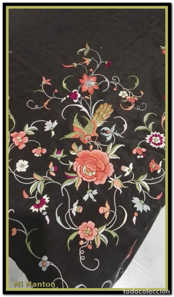 Antigüedades: manton ala de manila mosca ísabelino - Foto 8 - 156406486