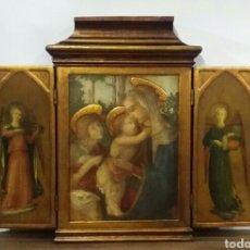 Antigüedades: TRÍPTICO RELIGIOSO. Lote 156447564